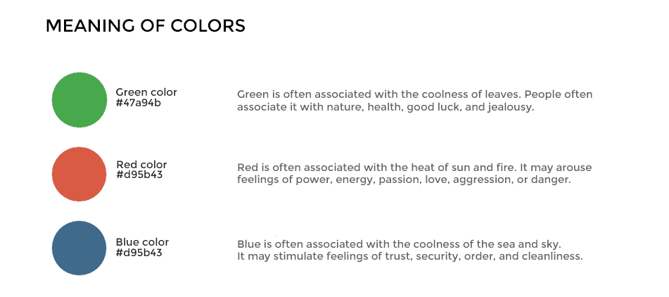 Meaning of Colors in Color Psychology